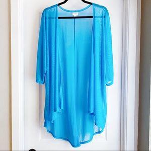 ❤️ 4/$20 LULAROE Lindsay Kimono Bright Blue Sheer